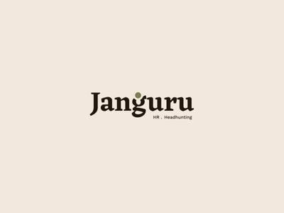 Janguru - Logo typography nature minimal logo identity point jungle clean branding agency branding badge