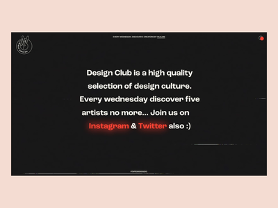 Design Club - Info Page website webdeisgn ux designer ux-ui uidesign typogaphy info page info transition interface design interface interaction design animation after effect