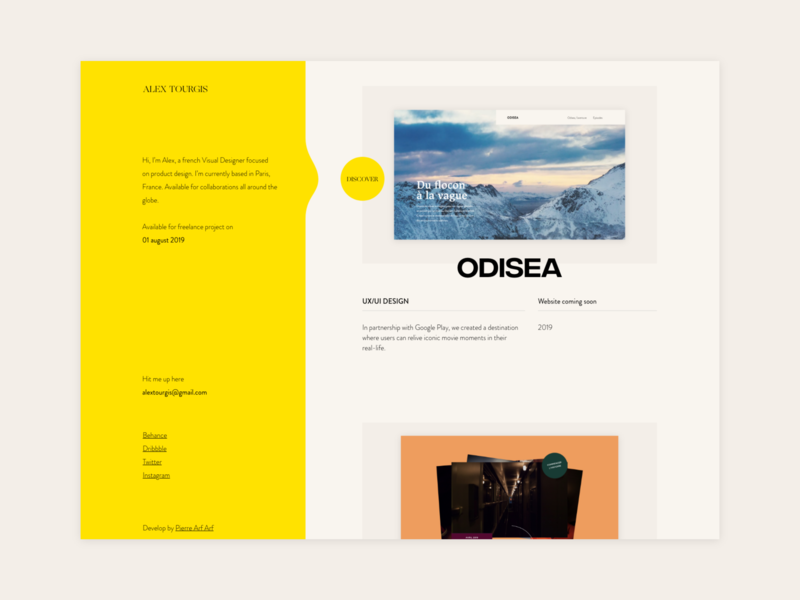 Portfolio research badge typogaphy minimal interface web wireframe adobe xd ux ui design website portfolio