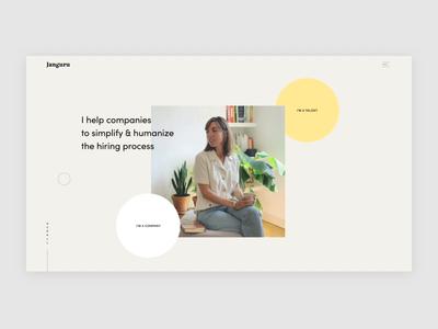 Janguru ux branding interaction design interface design animation after effect web ui website