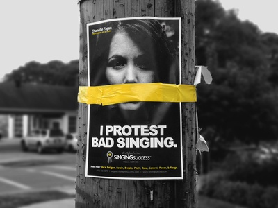 protest bad singing marketing campaign