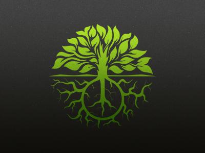Peace Garden Logo logo brand branding tree roots peace garden sign