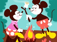 Mickey & Minnie go camping