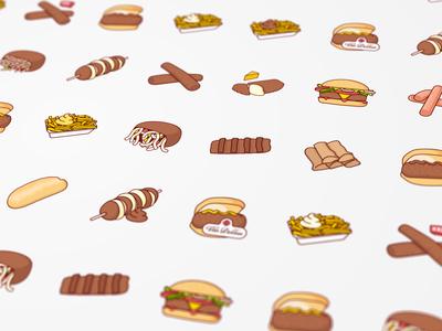 Snackbestel product illustrations