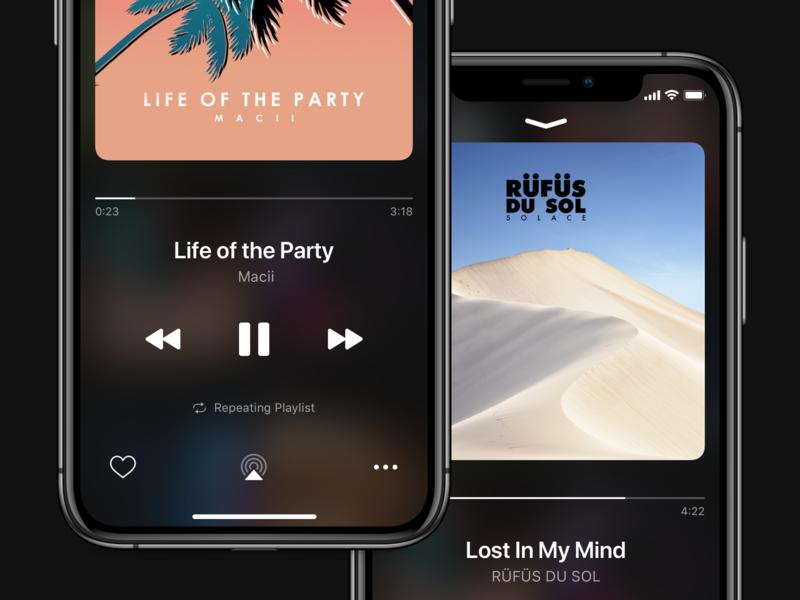Now Playing - iOS Music App music app spotify music now playing iphonexs ios 13 ios 12 dark mode apple music iphone ios