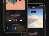 Now Playing - iOS Music App music app spotify music now playing iphonexs ios 13 ios 12 dark mode apple music iphone ios