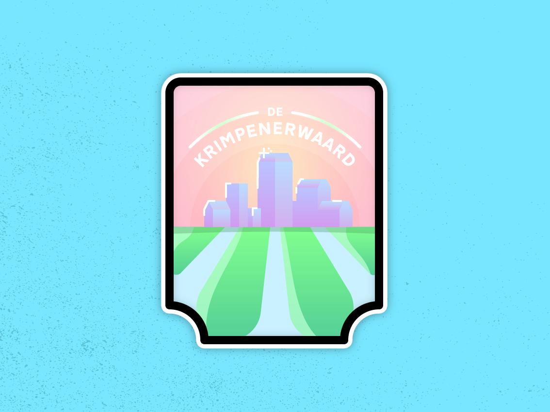 Krimpenerwaard Sticker vector illustration city logo modern illustrator flat design