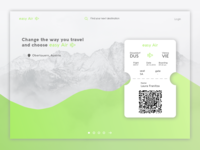 Airline Landing Page Concept