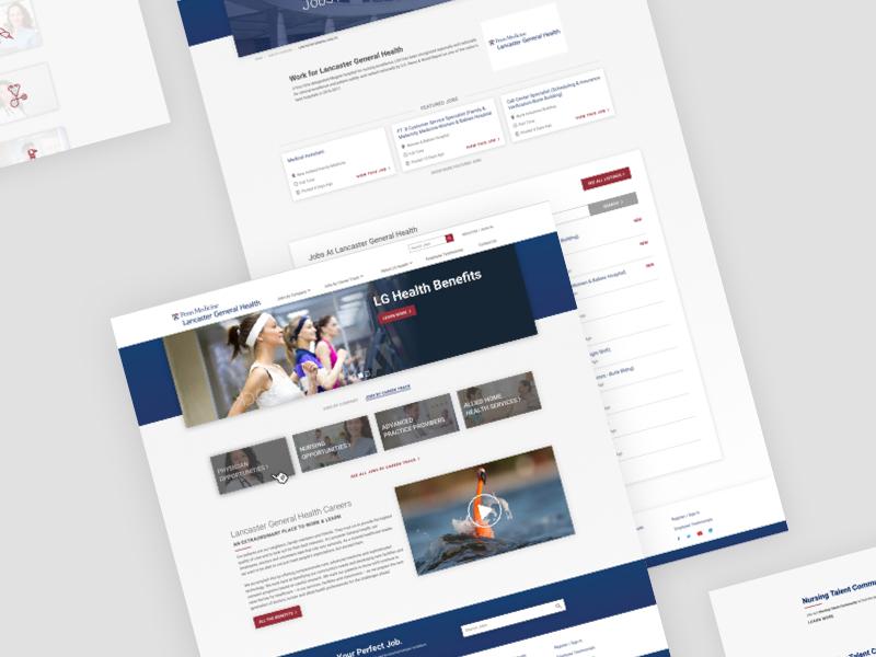 LGH Jobs - Website healthcare ux ui typography homepage blue medical website design recruitment jobs website medical website website medical