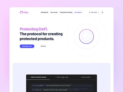 Developing with Cozy defi web 3.0 developer branding ethereum design crypto ui