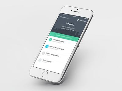 Doorman Web App scheduler list package ui ux android ios web app
