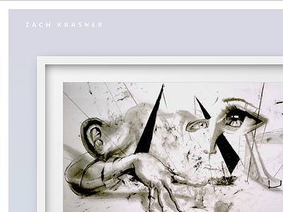 ZachKrasner.com Artist minimal css frame gallery scroll website portfolio artist art desktop