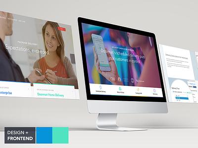 Doorman 2016 Website Preview package delivery doorman web development fullscreen background frontend web design
