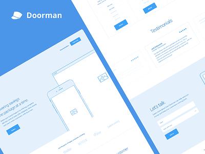 Doorman 2016 Wireframing web development web design wireframes