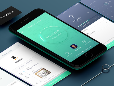 Doorman App Flow mockup production design ui ux app screen