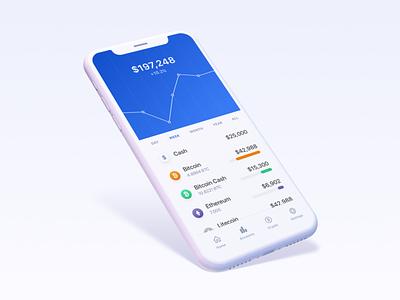 Coinbase Crypto Concept portfolio bitcoin cash litecoin ethereum bitcoin