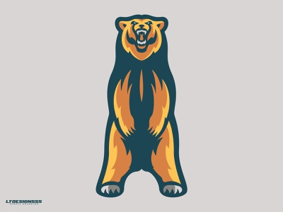 Grizzly brand branding illustration logodesign sports design grizzlie grizzly grizzly bear bear mascot design sports identity mark logo