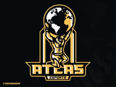 Atlas sports identity sports branding sports deisng sports logo gaming logos gaming logo gamers gaming sportsdesign sportsbranding sportsidentity sportslogo sports custom world god atlas mascot logo