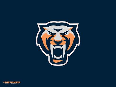 Saber sport cat saber sabertooth sports design sports logo sports mascot logo tiger