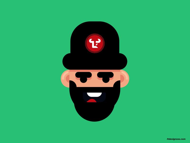 Cool Guy logos visual arts artist art visual art visual identity identity branding creativity creative mascot logo urban merch guy design flat design