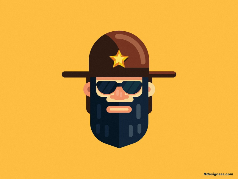 The Ranger officer law texas ranger cop ranger mascot logo cartoon illustration illustration cartoon character character flat design character artist art flat art flat design mascot logo