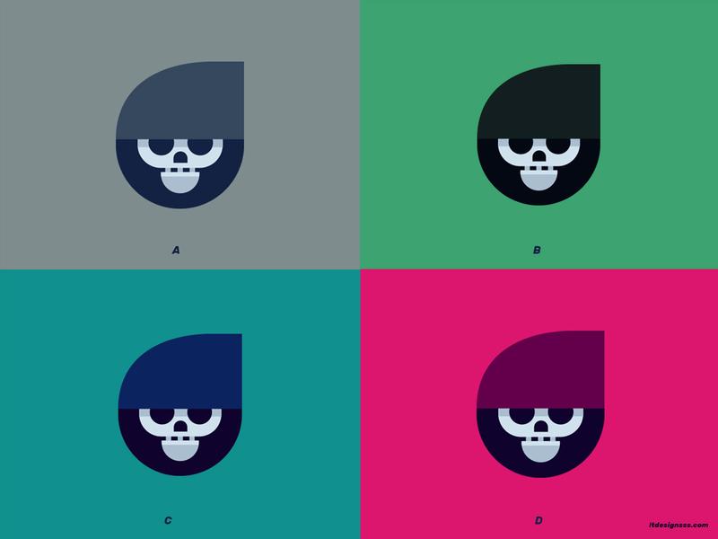 Cute Grim (Which colour pallet?) illustration cute reaper reaper grim reaper grim design flat design logo shapes simple cartoon cartoony cute minimal geometric shapes simple shapes flat flat art colours character