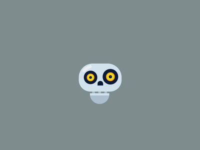 Skull Animation. speakers animation speakers cute skull animation cartoony cartoon logo motion flat art animated character character animate motion after effects flat colours ui flat design skull animation cute skull skull logo