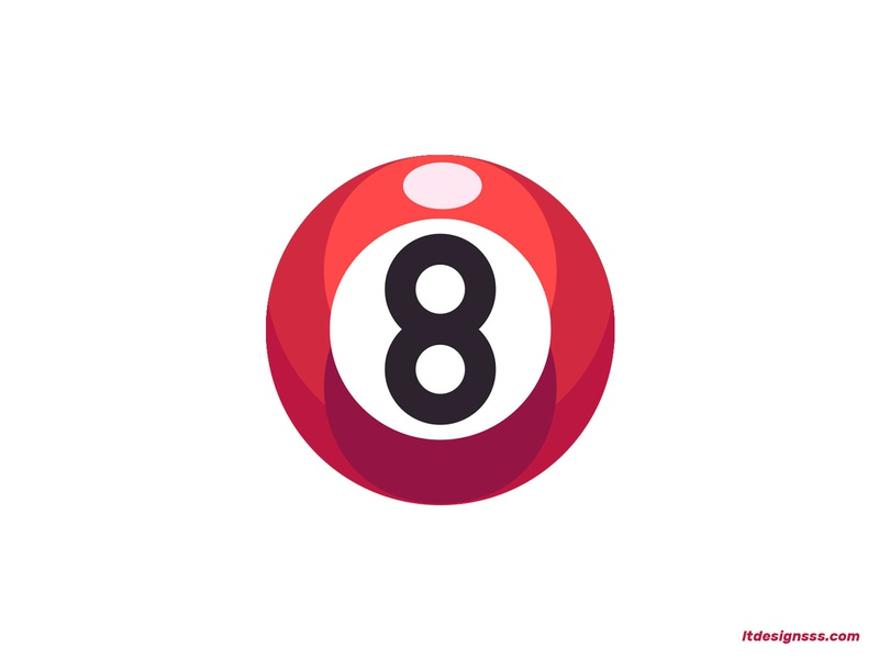 Eight Ball design illustations lucky number eight lucky burning bright colours vector illustrator icon mark logo colours flat flat design pool ball eight ball daily illustration illustation