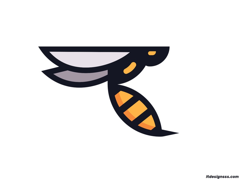 Wasp illustrations identiy logo design daily design vector flat art geometric shapes simple shapes simple minimal mascot 2d flat flat design illustration bee wasp icon mark