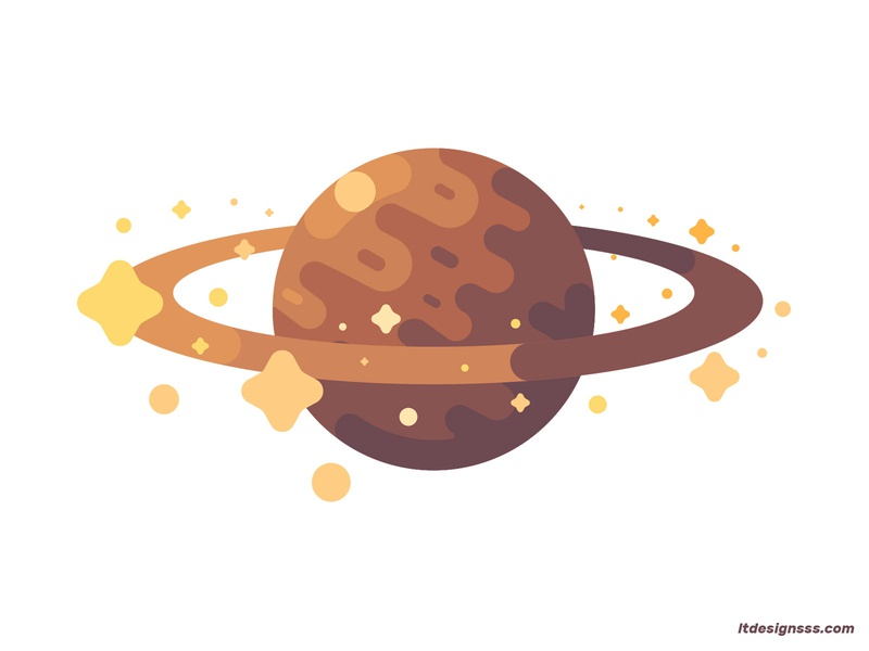 Planet (Saturn) colours stars geometric shapes daily desgin daily illustration design flat artwork flat designs simple shapes vector space flat flat art flat design 2d saturn planet illustration