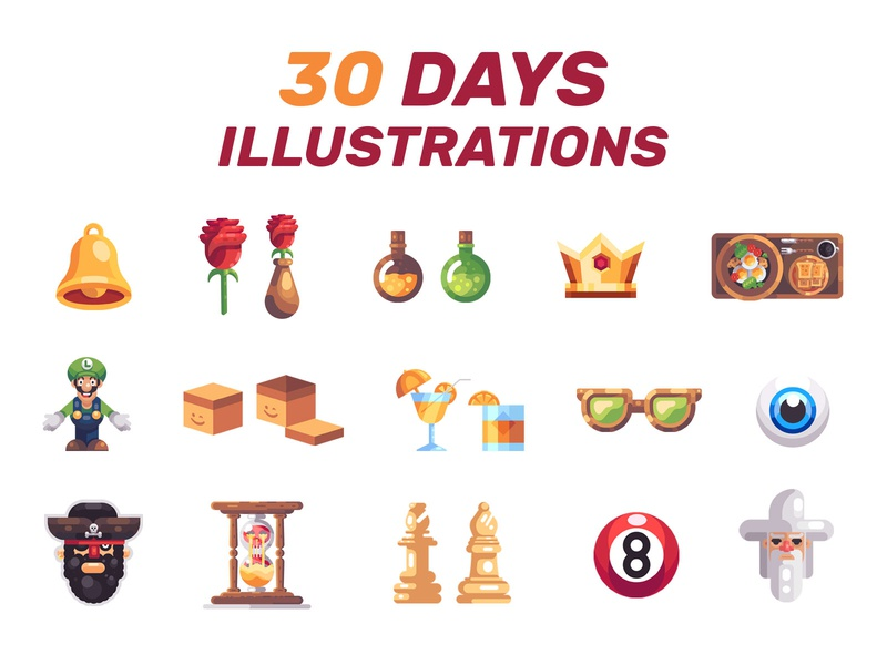 30 Days Illustrations daily illustration geometric shapes simple simpel shapes charactes character design daily designs illustration design colours logos mark icons 2d flat art flat flat design illustration