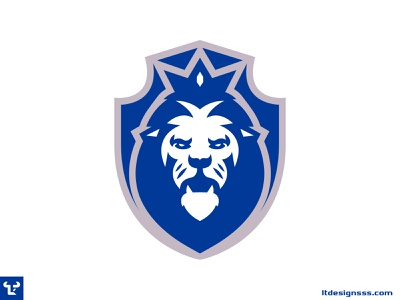 Lion Crest (2) esports logo gaming illustrator sports logo design vector mascot esports flat design simple shapes lion illustration badge design lion crest lions sports design sports identity logo