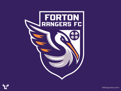 Forton Rangers FC sports branding crest logo crest badge logo badge design mascot design branding illustration mascot pelicans rangers forton sports identity sports design sports logo logo sports