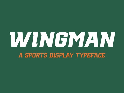 Wingman Typeface sports esports typeface design types typography fonts sports typeface sportstype typedesign typeface type