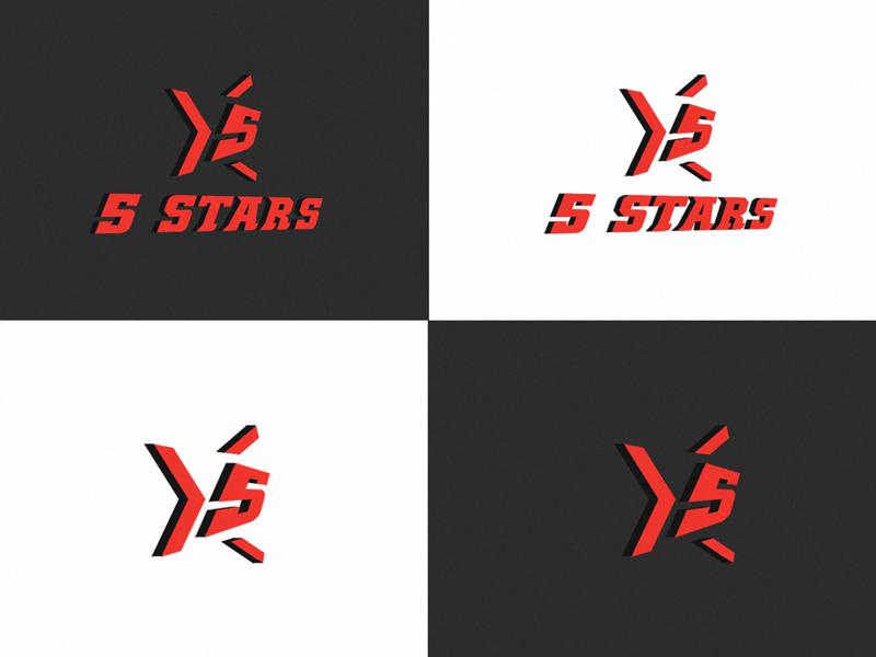 5 Stars fiction five stars photshop illustrator sketch identity brand gaming branding