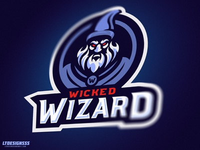 Wicked Wizard illustration graphicdesign logo design wicked wizard gamers gaming sports esports
