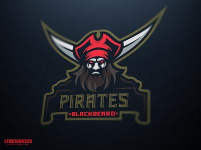 Pirates old vintage mascot identity brand illustrator illustration blackbeard pirate esports logo sports