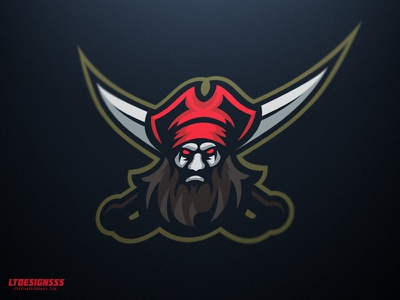 Blackbeard graphicdesign illustrator illustration blackbeard pirate gaming.mascot sports esports logo
