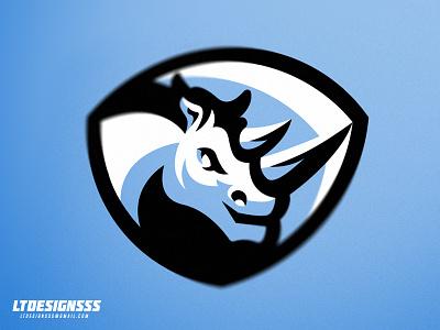 Rhino identity sportslogo sportsidentity sportsbranding brand branding mascot bold badge shield rhino logo sports esports