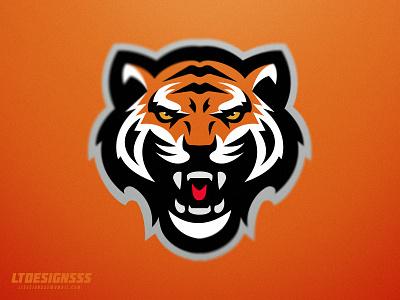 Tiger bold sportslogo graphicdesign designer design animal tigers tiger sportsidentity branding sportsbranding identity sports logo mascot