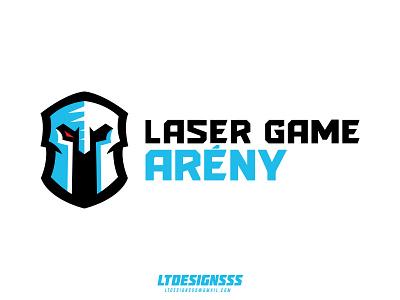 Laser Game Areny type mascot branding identity brand sportslogo sportsidentity sportsbranding helmet knight bold gaming laser logo sports
