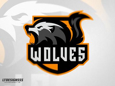 Wolves agressive bold branding identity sportsidentity sportslogo sportsbranding sports esports wolves wolf logo mascot