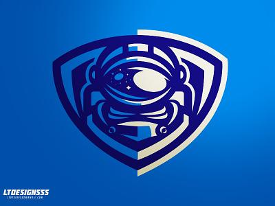 AstroMan bold space brand branding identity sportsidentity sportsbranding sportslogo badge shield astgronaut galaxy astro mascot logo sports