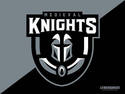 M.Knights esports sports gaming gamers logo mascot shield brand identity branding sportsbranding sportsidentity sportslogo knights knight esportslogo esports mascot bold illustrator illustration