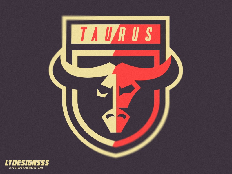 Taurus Crest bullcrest designer mascot branding brand identity sportsindentity sportsbranding shield taurus bull crest logo sports