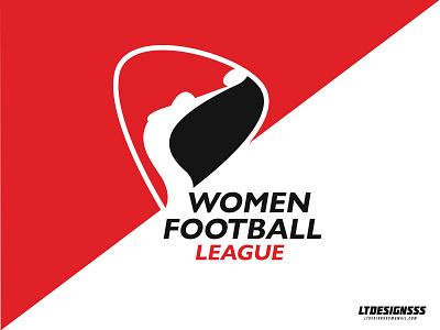 Women Football League shield curves womensports women sportsidentity identity womenfootball woman female designer sportsdesign sportsbranding sportslogo sports brading brand logo football league