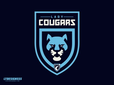 Lady Cougars type typography wild cat wild cats big cats cat bold designer design brand sports branding sports identity football league wfl cougars cougar mascot logo sports