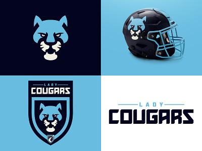 Lady Cougars (identity) ltdesignsss wfl league football sports brading sports identity cougars branding graphicdesign typography illustrator illustration bold identity mascot logo sports