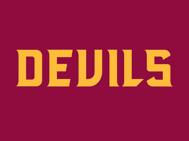 Devil (type) sports identity type art type design identity bold sports branding devils devil logotype font typeface typography typedesign type sports logo