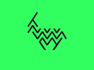 Zig Zag Logotype lines zigzag goat isotype logotype branding